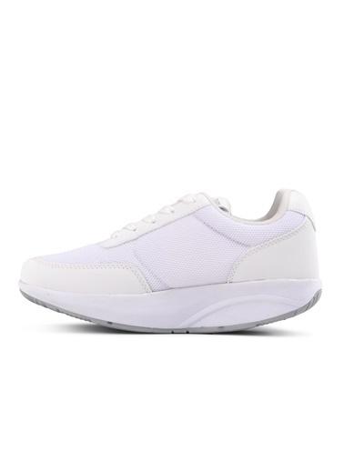 Walkway Walksim Beyaz Kadın Yürüyüş Zayıflama Ayakkabısı Beyaz